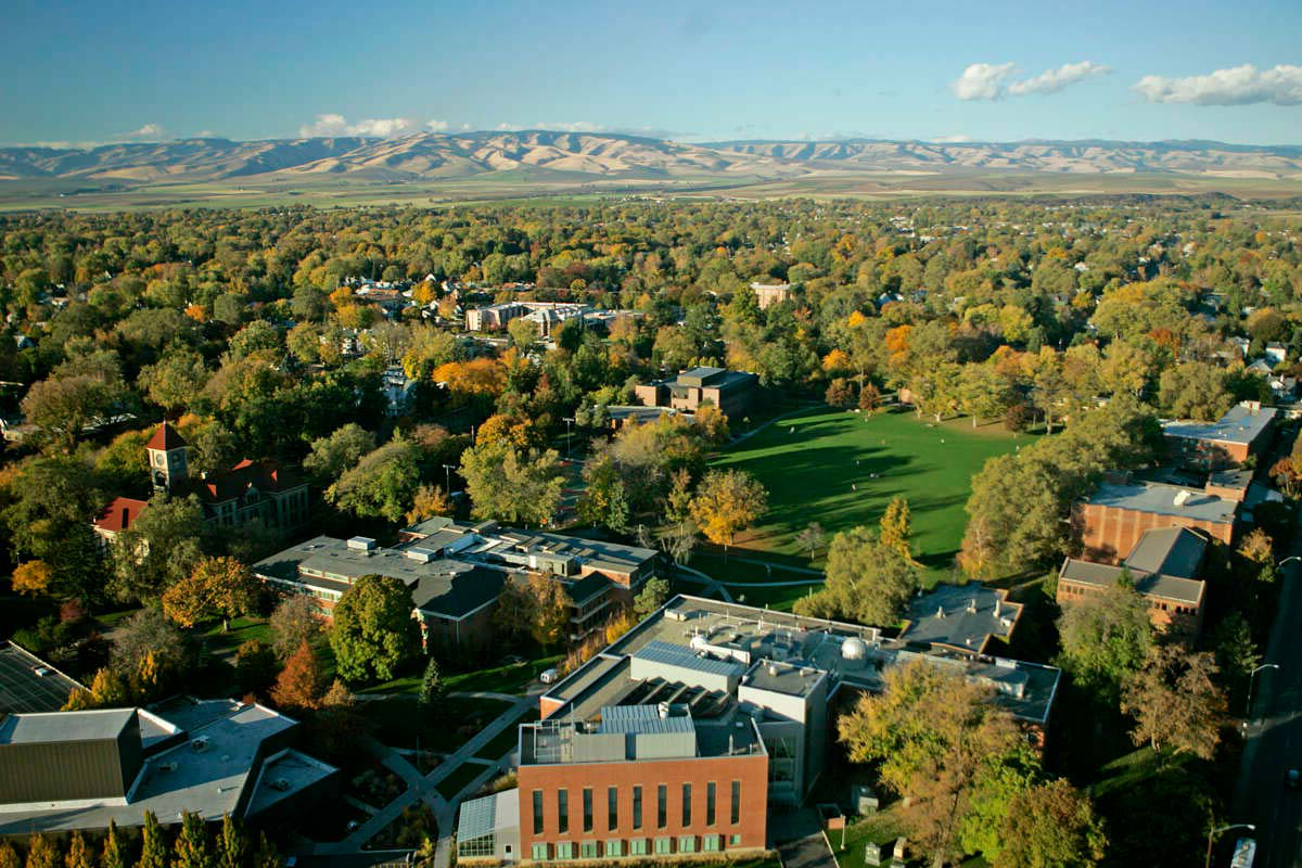 Aerial of Whitman College Campus